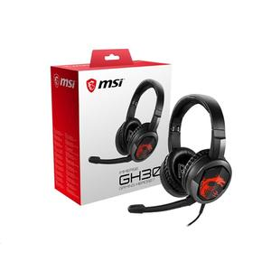 MSI Immerse GH30 Gaming Headset mikrofonos fülhallgató fekete-piros /S37-2101000-SV1/