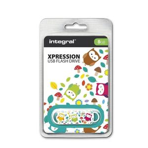 Pen Drive 8GB Integral Xpression USB 2.0 Owls (INFD8GBXPROWLS) 2