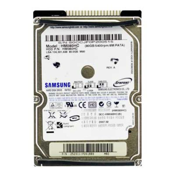 "Samsung SpinPoint M HM080HC 80GB ATA PATA 2.5"" notebook merevlemez (80 GB IDE HDD) Sony laptopba való 2"